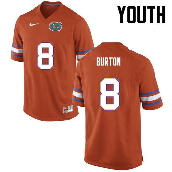Youth Florida Gators #8 Trey Burton College Football Jerseys-Orange