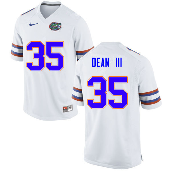 Men #35 Trey Dean III Florida Gators College Football Jerseys Sale-White