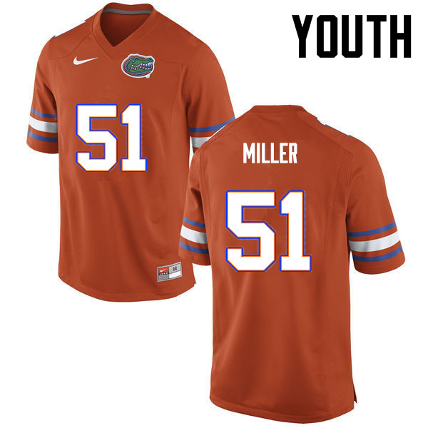 Youth Florida Gators #51 Ventrell Miller College Football Jerseys-Orange