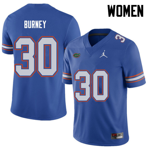 Jordan Brand Women #30 Amari Burney Florida Gators College Football Jerseys Sale-Royal