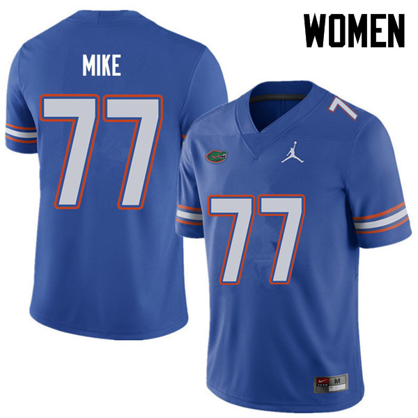 Jordan Brand Women #77 Andrew Mike Florida Gators College Football Jerseys Sale-Royal