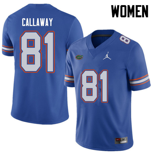 Jordan Brand Women #81 Antonio Callaway Florida Gators College Football Jerseys Sale-Royal