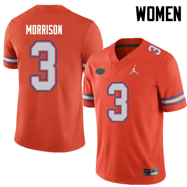 Jordan Brand Women #3 Antonio Morrison Florida Gators College Football Jerseys Sale-Orange