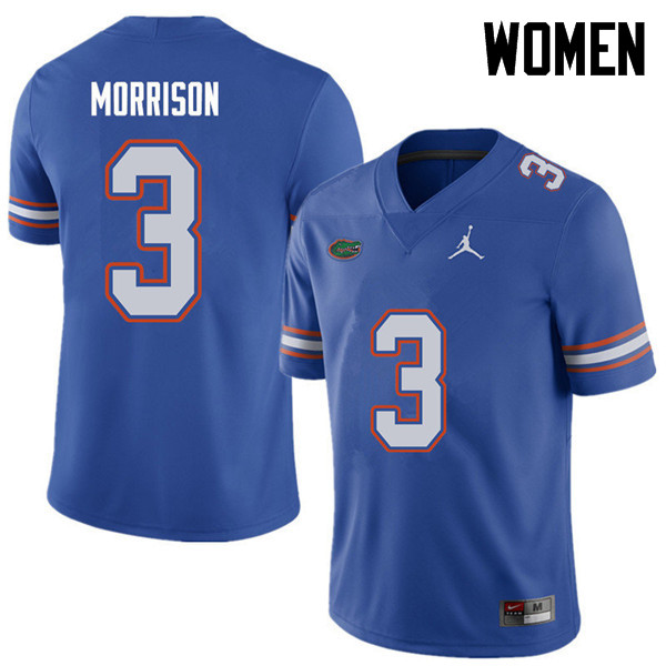 Jordan Brand Women #3 Antonio Morrison Florida Gators College Football Jerseys Sale-Royal