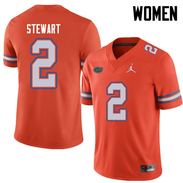 Jordan Brand Women #2 Brad Stewart Florida Gators College Football Jerseys Sale-Orange