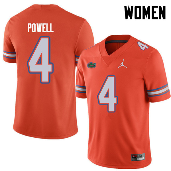 Jordan Brand Women #4 Brandon Powell Florida Gators College Football Jerseys Sale-Orange