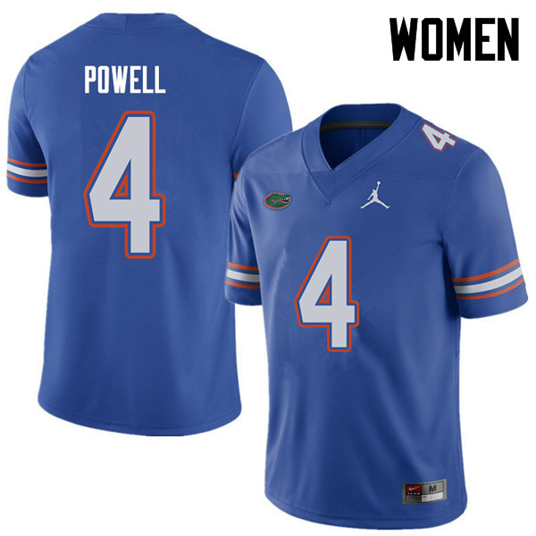 Jordan Brand Women #4 Brandon Powell Florida Gators College Football Jerseys Sale-Royal