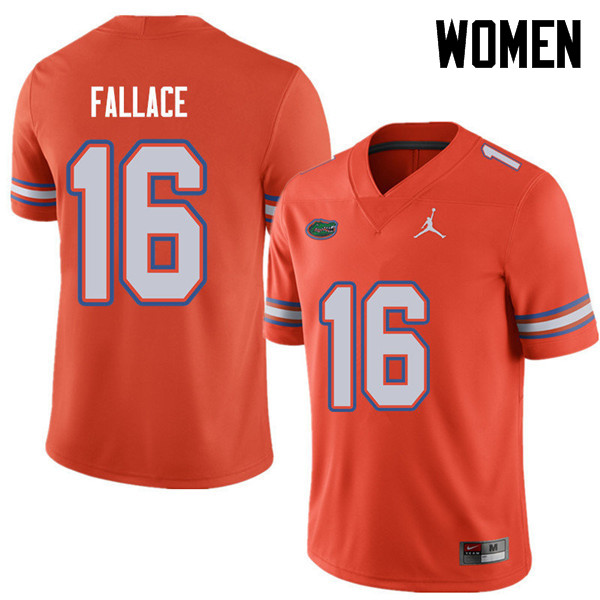 Jordan Brand Women #16 Brian Fallace Florida Gators College Football Jerseys Sale-Orange