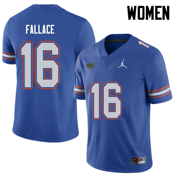 Jordan Brand Women #16 Brian Fallace Florida Gators College Football Jerseys Sale-Royal