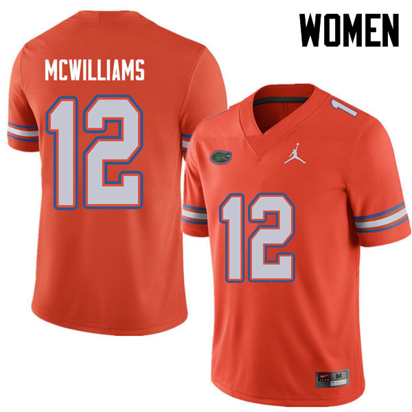 Jordan Brand Women #12 C.J. McWilliams Florida Gators College Football Jerseys Sale-Orange