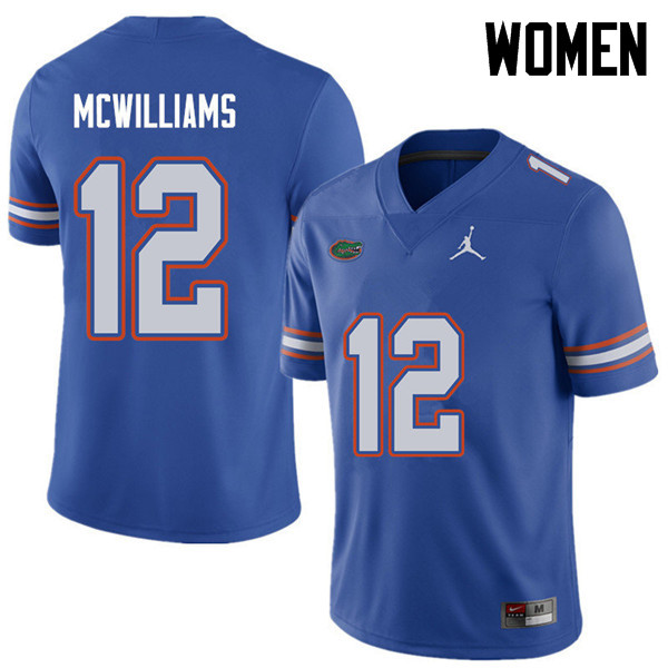 Jordan Brand Women #12 C.J. McWilliams Florida Gators College Football Jerseys Sale-Royal