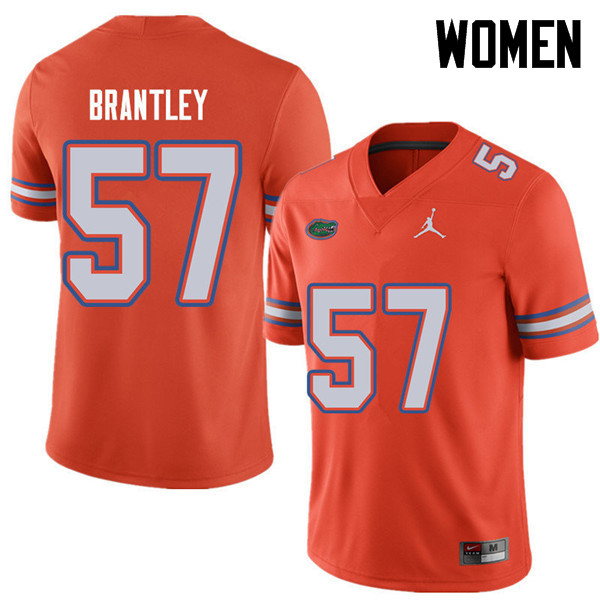 Jordan Brand Women #57 Caleb Brantley Florida Gators College Football Jerseys Sale-Orange