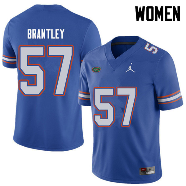 Jordan Brand Women #57 Caleb Brantley Florida Gators College Football Jerseys Sale-Royal