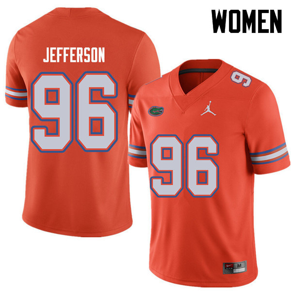 Jordan Brand Women #96 Cece Jefferson Florida Gators College Football Jerseys Sale-Orange