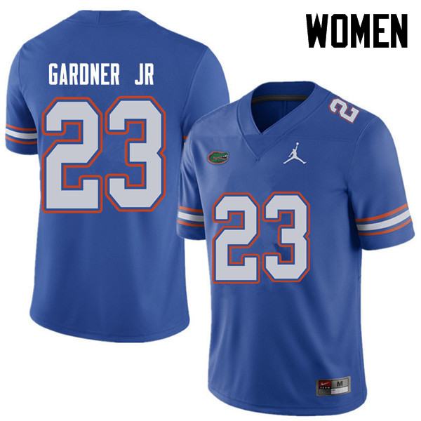 Jordan Brand Women #23 Chauncey Gardner Jr. Florida Gators College Football Jerseys Sale-Royal