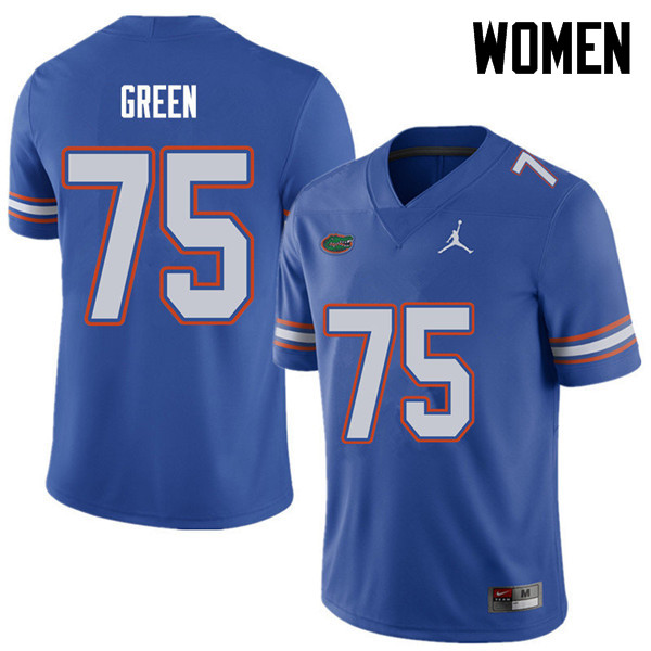 Jordan Brand Women #75 Chaz Green Florida Gators College Football Jerseys Sale-Royal