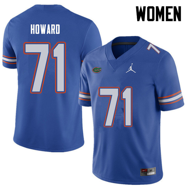 Jordan Brand Women #71 Chris Howard Florida Gators College Football Jerseys Sale-Royal