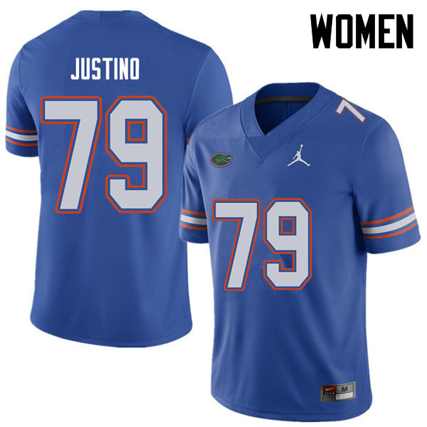 Jordan Brand Women #79 Daniel Justino Florida Gators College Football Jerseys Sale-Royal