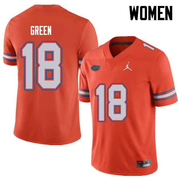 Jordan Brand Women #18 Daquon Green Florida Gators College Football Jerseys Sale-Orange