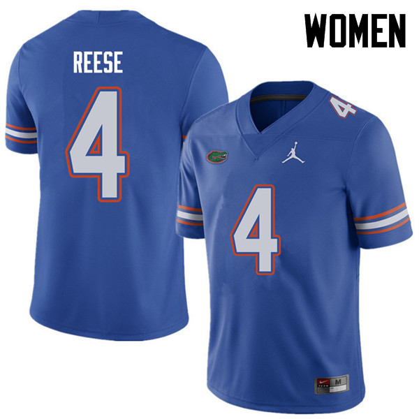 Jordan Brand Women #4 David Reese Florida Gators College Football Jerseys Sale-Royal