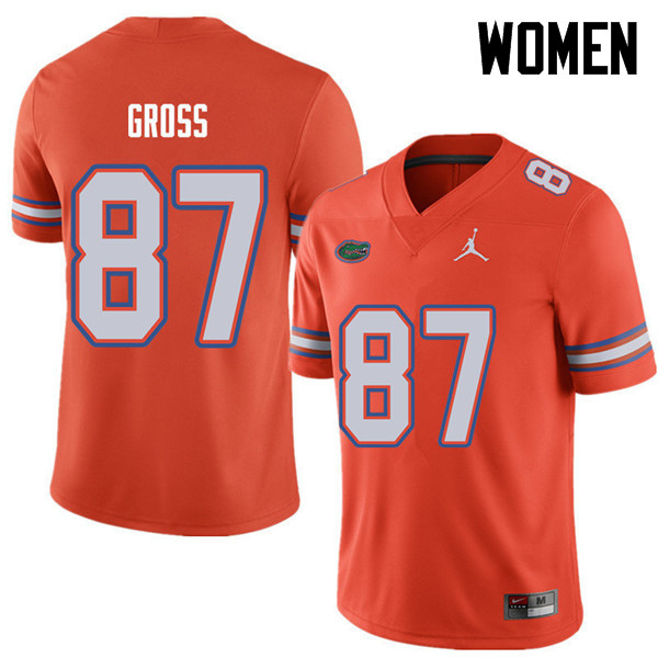 Jordan Brand Women #87 Dennis Gross Florida Gators College Football Jerseys Sale-Orange