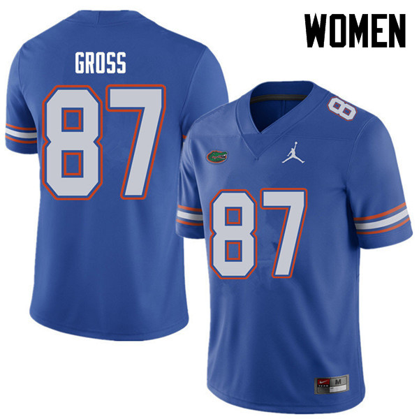 Jordan Brand Women #87 Dennis Gross Florida Gators College Football Jerseys Sale-Royal