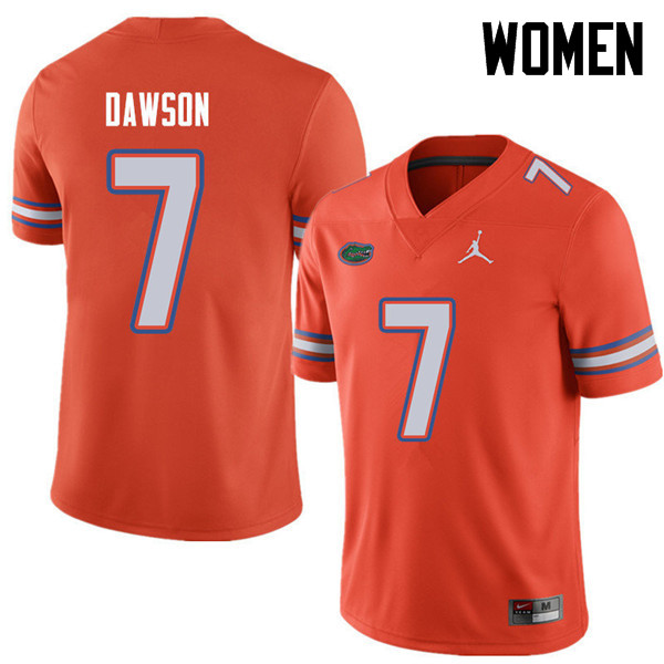 Jordan Brand Women #7 Duke Dawson Florida Gators College Football Jerseys Sale-Orange