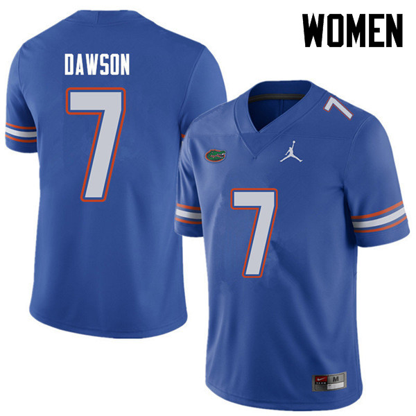 Jordan Brand Women #7 Duke Dawson Florida Gators College Football Jerseys Sale-Royal