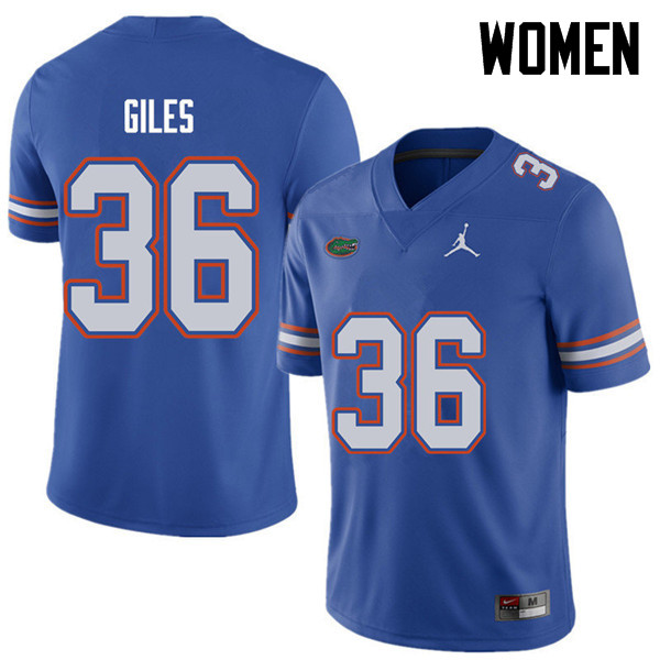 Jordan Brand Women #36 Eddie Giles Florida Gators College Football Jerseys Sale-Royal