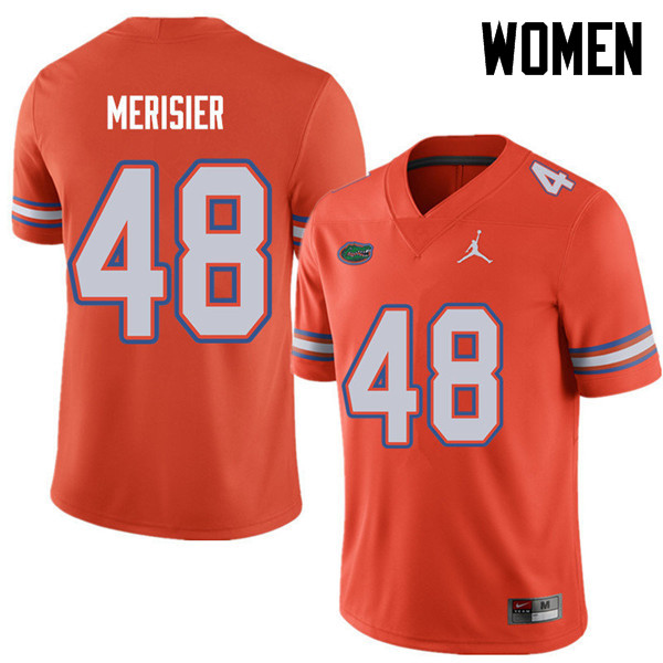 Jordan Brand Women #48 Edwitch Merisier Florida Gators College Football Jerseys Sale-Orange