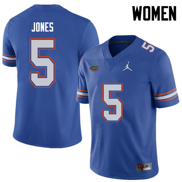 Jordan Brand Women #5 Emory Jones Florida Gators College Football Jerseys Sale-Royal
