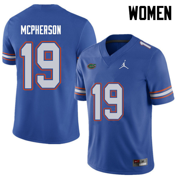 Jordan Brand Women #19 Evan McPherson Florida Gators College Football Jerseys Sale-Royal