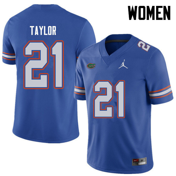 Jordan Brand Women #21 Fred Taylor Florida Gators College Football Jerseys Sale-Royal