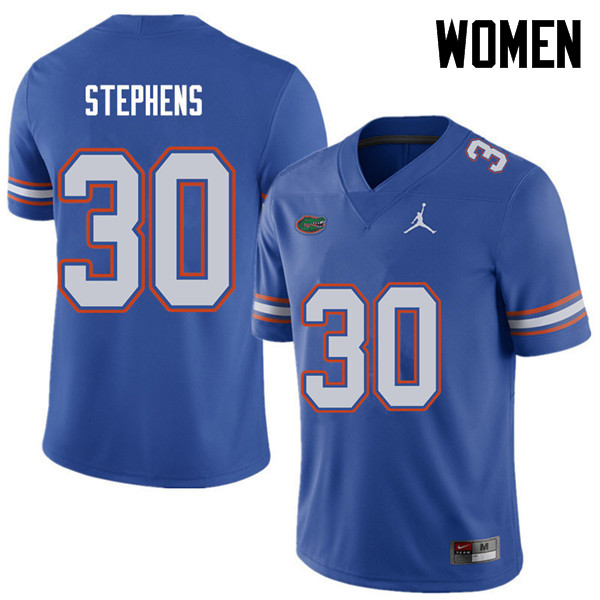 Jordan Brand Women #30 Garrett Stephens Florida Gators College Football Jerseys Sale-Royal