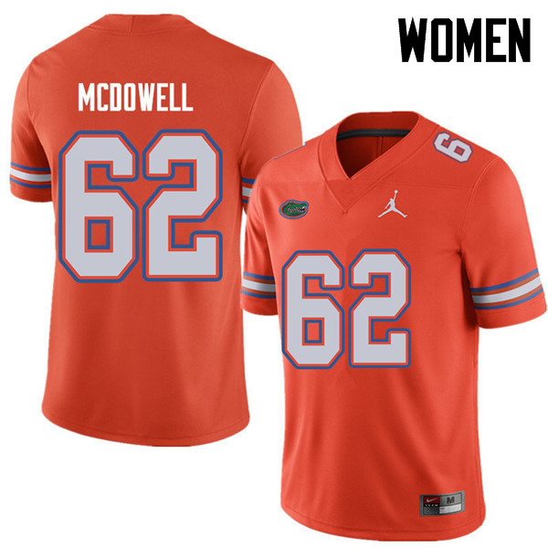 Jordan Brand Women #62 Griffin McDowell Florida Gators College Football Jerseys Sale-Orange