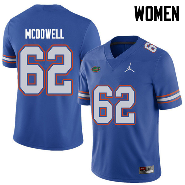 Jordan Brand Women #62 Griffin McDowell Florida Gators College Football Jerseys Sale-Royal