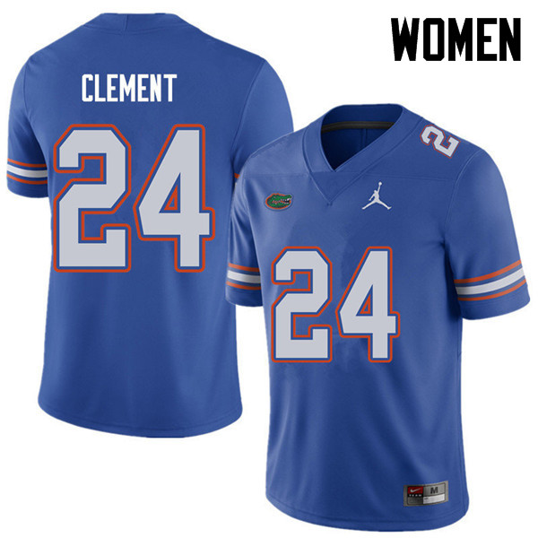 Jordan Brand Women #24 Iverson Clement Florida Gators College Football Jerseys Sale-Royal