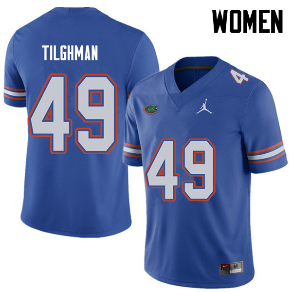 Jordan Brand Women #49 Jacob Tilghman Florida Gators College Football Jerseys Sale-Royal