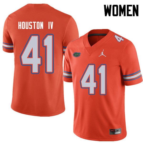 Jordan Brand Women #41 James Houston IV Florida Gators College Football Jerseys Sale-Orange