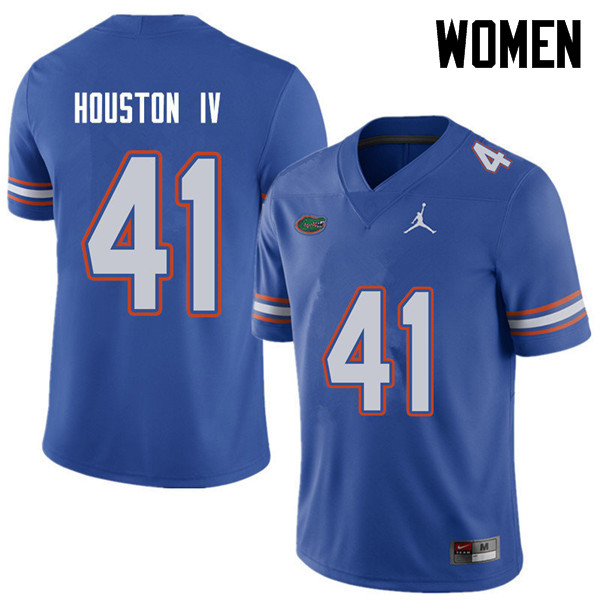 Jordan Brand Women #41 James Houston IV Florida Gators College Football Jerseys Sale-Royal