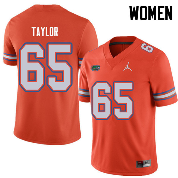 Jordan Brand Women #65 Jawaan Taylor Florida Gators College Football Jerseys Sale-Orange