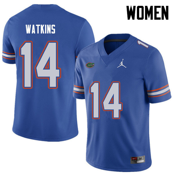Jordan Brand Women #14 Jaylen Watkins Florida Gators College Football Jerseys Sale-Royal