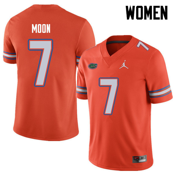 Jordan Brand Women #7 Jeremiah Moon Florida Gators College Football Jerseys Sale-Orange