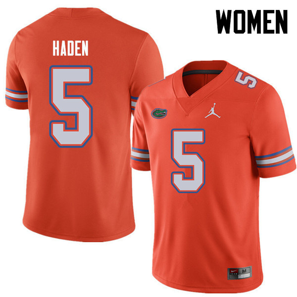 Jordan Brand Women #5 Joe Haden Florida Gators College Football Jerseys Sale-Orange