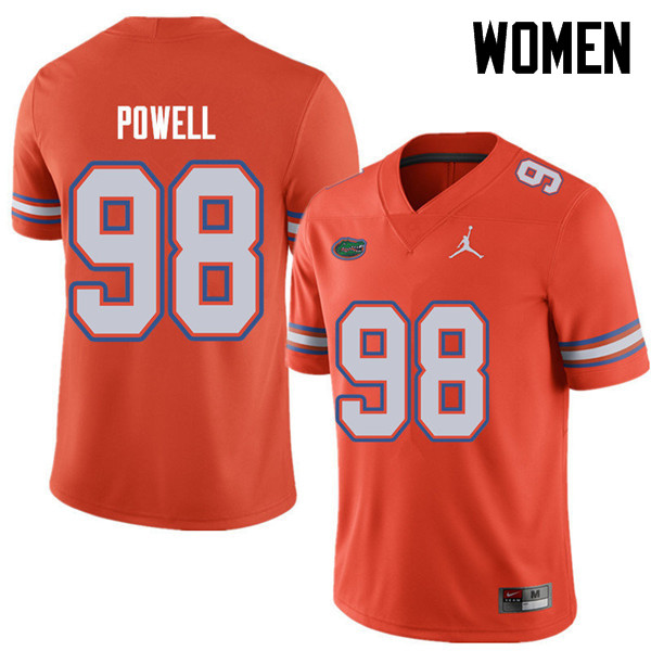 Jordan Brand Women #98 Jorge Powell Florida Gators College Football Jerseys Sale-Orange