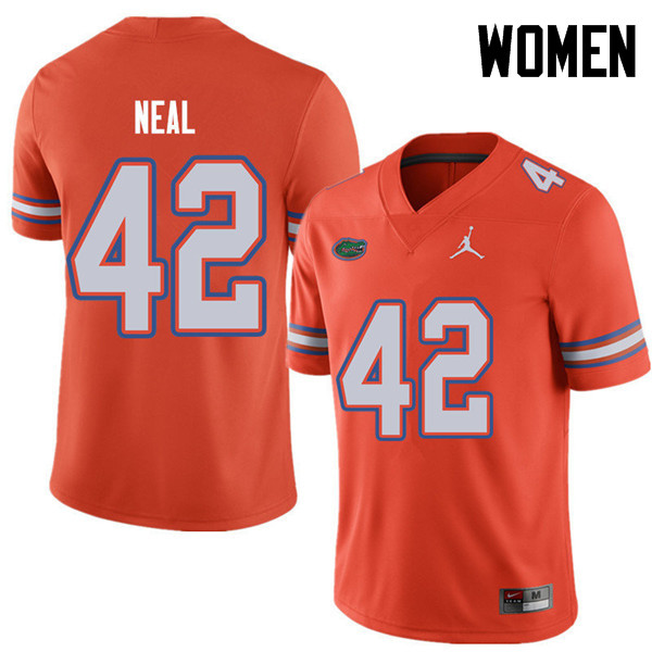 Jordan Brand Women #42 Keanu Neal Florida Gators College Football Jerseys Sale-Orange