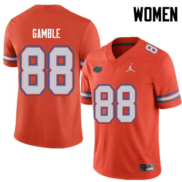 Jordan Brand Women #88 Kemore Gamble Florida Gators College Football Jerseys Sale-Orange
