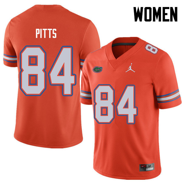Jordan Brand Women #84 Kyle Pitts Florida Gators College Football Jerseys Sale-Orange