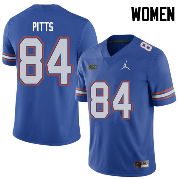 Jordan Brand Women #84 Kyle Pitts Florida Gators College Football Jerseys Sale-Royal