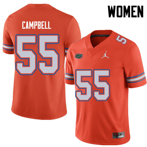 Jordan Brand Women #55 Kyree Campbell Florida Gators College Football Jerseys Sale-Orange